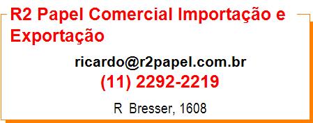 R2 Papel Comercial Importação e Exportação