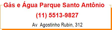Gás e Água Parque Santo Antônio