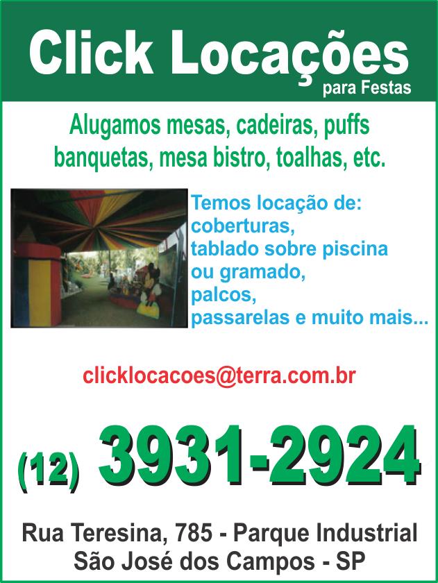 Click Locações para Festas-são José dos Campos